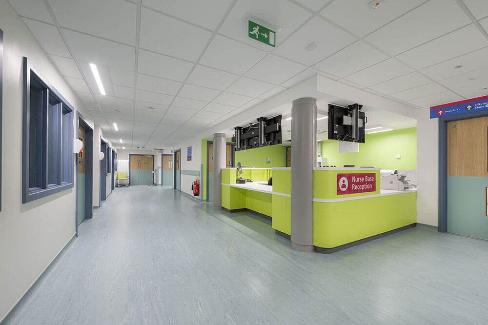 Modular reception Northwick Park Hospital